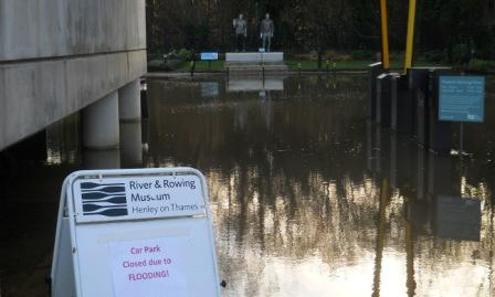 River and Rowing museum car park flooded